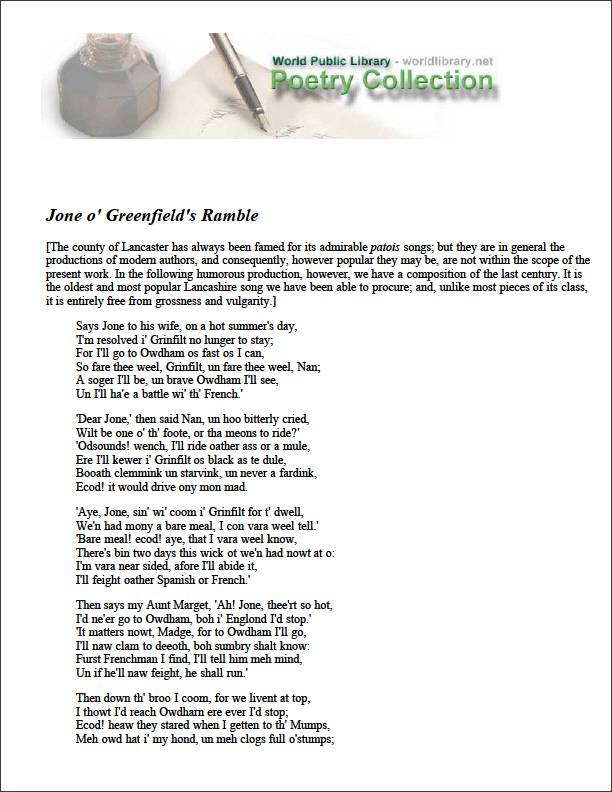 Jone O' Greenfield's Ramble by Various