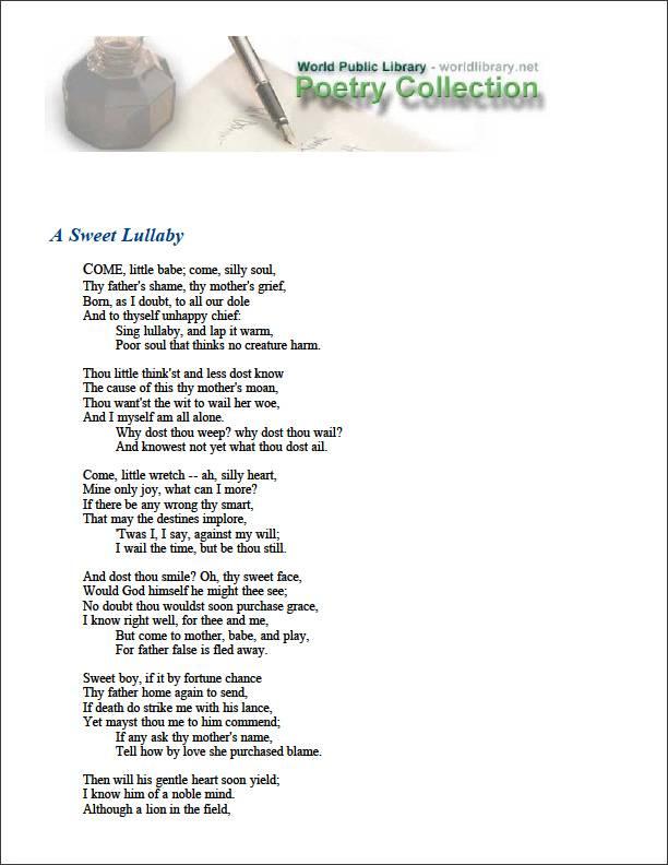 A Sweet Lullaby by Breton, Nicholas
