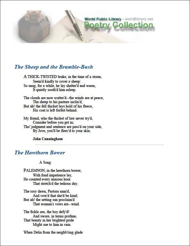 The Sheep and the Bramble-Bush by Cunningham, John
