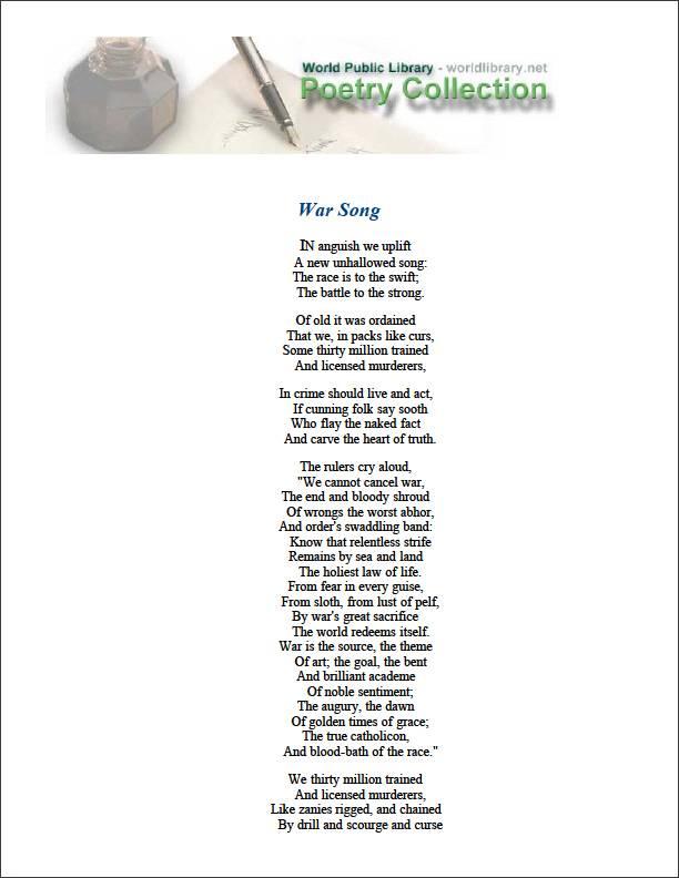 War Song by Davidson, John