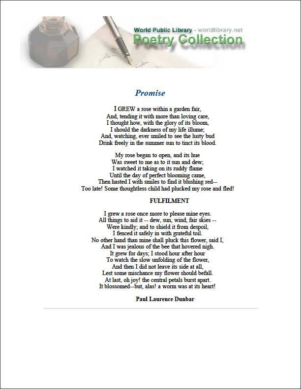 Promise by Dunbar, Paul Laurence