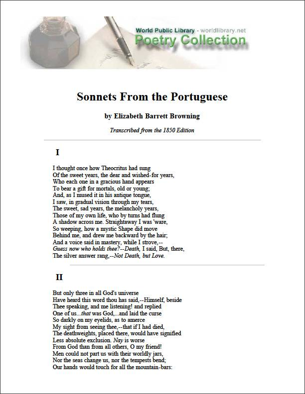 Sonnets from the Portuguese, And Other P... by Browning, Elizabeth Barrett