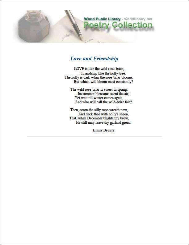 Love and Friendship by Bronte, Emily