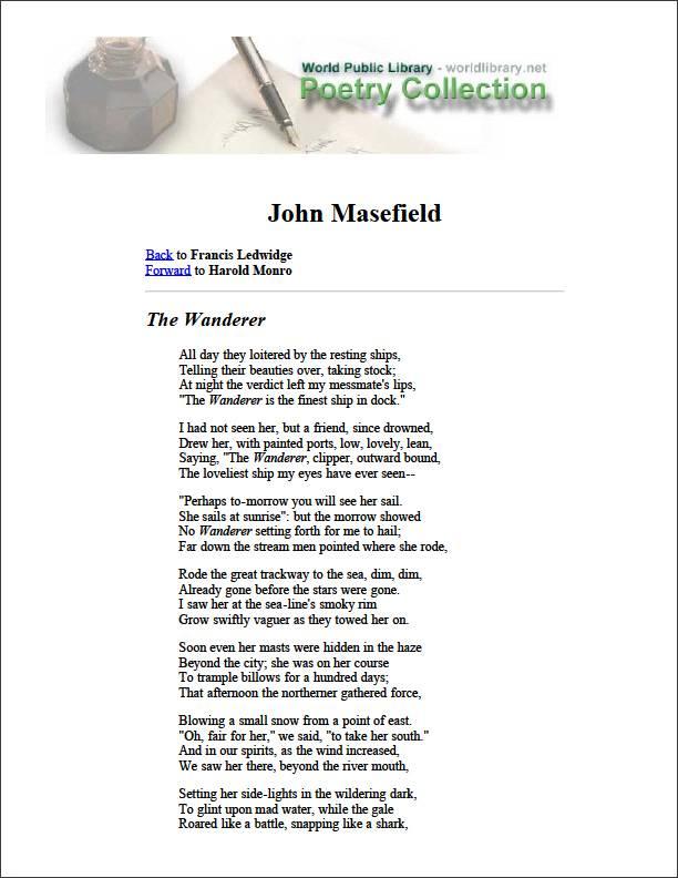 The Wanderer by Ledwidge, Francis