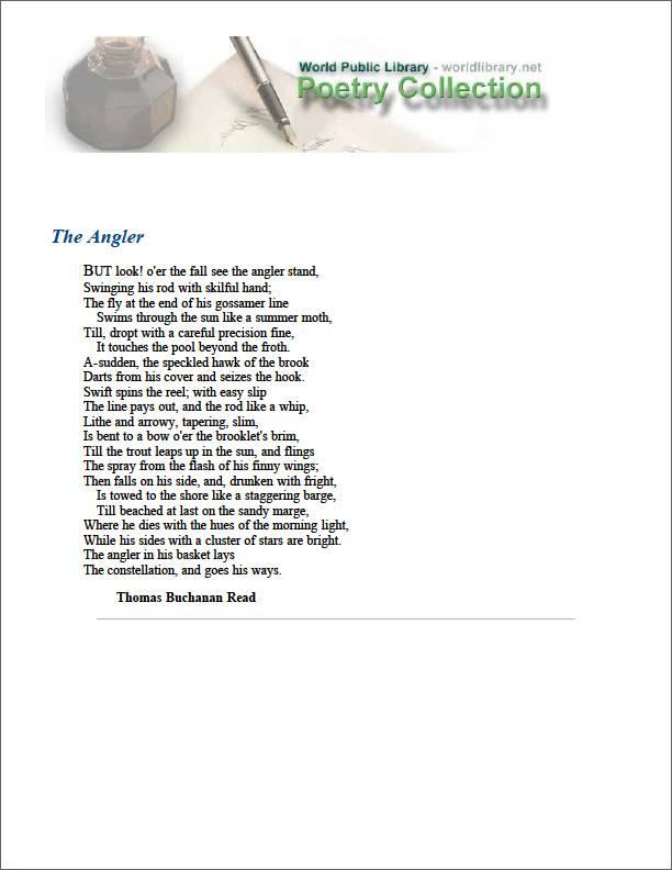 The Angler by Read, Thomas Buchanan