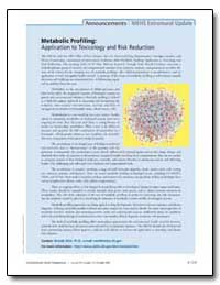 Metabolic Profiling : Application to Tox... by Weis, Brenda