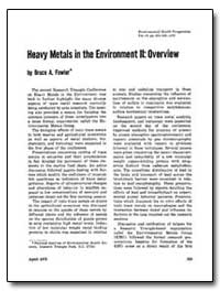 Heavy Metals in the Environment II : Ove... by Fowler, Bruce A.