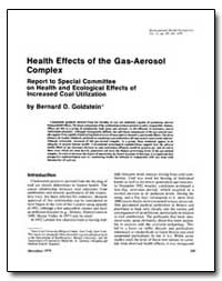 Health Effects of the Gas-Aerosol Comple... by Goldstein, Bernard D.