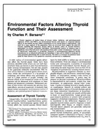 Environmental Factors Altering Thyroid F... by Barsano, Charles P.