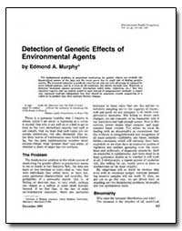 Detection of Genetic Effects of Environm... by Murphy, Edmond A.