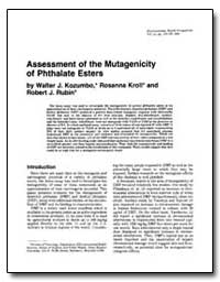 Assessment of the Mutagenicity of Phthal... by Kozumbo, Walter J.