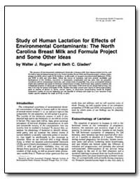 Study of Human Lactation for Effects of ... by Rogan, Walter J.