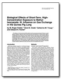 Biological Effects of Short-Term, High- ... by Dodd, Darol E.