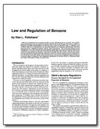 Law and Regulation of Benzene by Feitshans, Llise L.