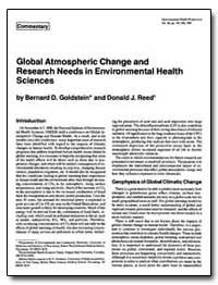 Global Atmospheric Change and Research N... by Goldstein, Bernard D.