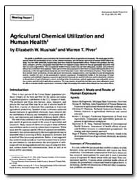 Agricultural Chemical Utilization and Hu... by Mushak, Elizabeth W.