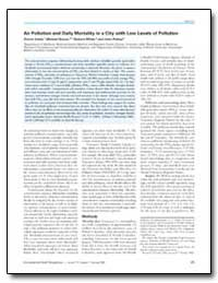 Air Pollution and Daily Mortality in a C... by Petkau, John