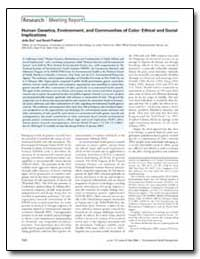 Human Genetics, Environment, And Communi... by Prakash, Swati