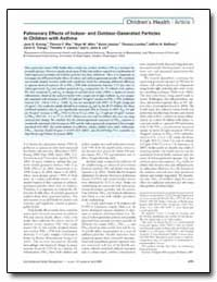Pulmonary Effects of Indoor- and Outdoor... by Koenig, Jane Q.