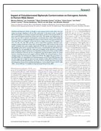 Impact of Polychlorinated Biphenyls Cont... by Sanderson, Thomas