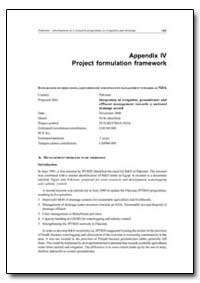 Appendix IV Project Formulation Framewor... by Food and Agriculture Organization of the United Na...