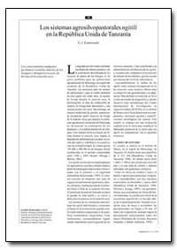 Los Sistemas Agrosilvopastorales Ngitili... by Kamwenda, G. J.
