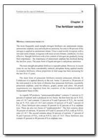 The Fertilizer Sector by Food and Agriculture Organization of the United Na...