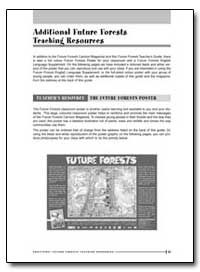 Additional Future Forests Teaching Resou... by Food and Agriculture Organization of the United Na...
