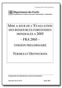 A Jour de Levaluation des Ressources For... by Food and Agriculture Organization of the United Na...