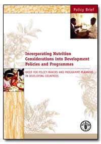 Incorporating Nutrition Considerations i... by Food and Agriculture Organization of the United Na...