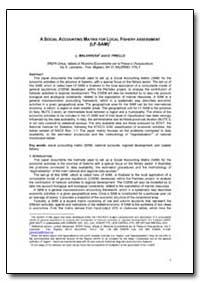 Social Accounting Matrix for Local Fishe... by Malvarosa, L.
