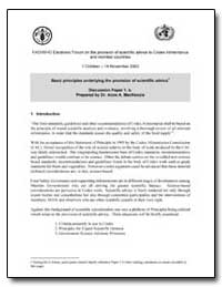 Fao/Who Electronic Forum on the Provisio... by Food and Agriculture Organization of the United Na...