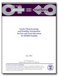 Gender Mainstreaming and Disability Sens... by International Development Agency
