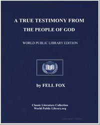A True Testimony from the People of God by Fox, Fell