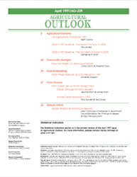 Agricultural Outlook : March 1997 Volume Issue March 1997 by Usda