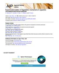 Applied Physics Letters : Experimental i... Volume Issue : June 2012 by Z. Olszewski, R. Houlihan, C. Ryan, C. OMahony, a...