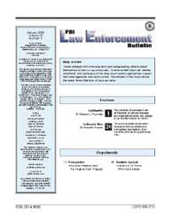 Fbi Law Enforcement Bulletin, January 20... by Feemster, Samuel