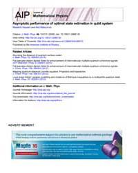 Journal of Mathematical Physics : Asympt... Volume Issue : October 2008 by Masahito Hayashi and Keiji Matsumoto