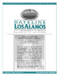 Dateline : Los Alamos; February 1999 Volume February 1999 by Coonley, Meredith