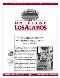 Dateline : Los Alamos; October 1995 Volume October 1995 by Coonley, Meredith