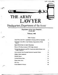The Army Lawyer : February 1986 ; Da Pam... Volume February 1986 ; DA PAM 27-50-158 by Alcala, Ronald T. P.