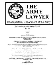 The Army Lawyer : May 2009 ; Da Pam 27-5... Volume May 2009 ; DA PAM 27-50-432 by Alcala, Ronald T. P.