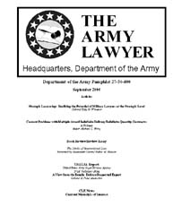 The Army Lawyer : September 2006 ; Da Pa... Volume September 2006 ; DA PAM 27-50-400 by Alcala, Ronald T. P.