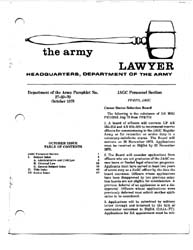 The Army Lawyer : October 1978 ; Da Pam ... Volume October 1978 ; DA PAM 27-50-70 by Alcala, Ronald T. P.