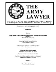 The Army Lawyer : October 2008 ; Da Pam ... Volume October 2008 ; DA PAM 27-50-425 by Alcala, Ronald T. P.