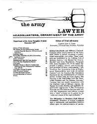 The Army Lawyer : December 1977 ; Da Pam... Volume December 1977 ; DA PAM 27-50-60 by Alcala, Ronald T. P.