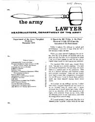 The Army Lawyer : December 1979 ; Da Pam... Volume December 1979 ; DA PAM 27-50-84 by Alcala, Ronald T. P.