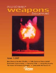 Nuclear Weapons Journal (Nwj); Issue 1; ... Volume Issue 1; 2007 by Burgess, Margaret