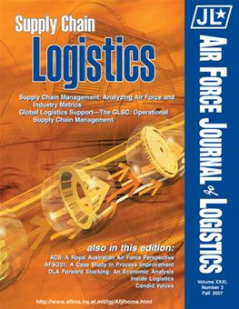 Air Force Journal of Logistics : 2006 Volume 31, Issue 3 by Rainey, James C.
