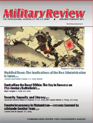 Miltary Review : January-February 2011 Volume January-February 2011 by Smith, John J.